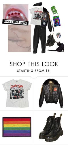 """Sin título #161"" by my-playground-love ❤ liked on Polyvore featuring Cast of Vices, Schott NYC, Topshop, Albino, ELSE and Switchblade Stiletto"