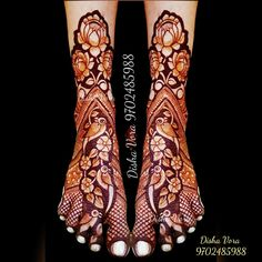 Floral Henna Designs, Mehndi Designs Book, Unique Mehndi Designs, Beautiful Mehndi Design, Dulhan Mehndi Designs, Bridal Mehndi Designs, Bridal Henna, Leg Mehndi, Legs Mehndi Design