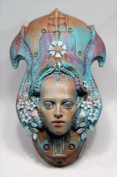 Ceramic Pottery, Pottery Art, Wall Sculptures, Lion Sculpture, Art Station, Metallic Paint, Traditional Art, Drawing S, Sculpting