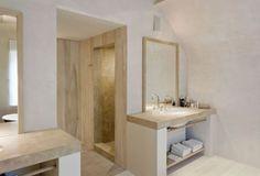 Belgian inspired bathroom color scheme