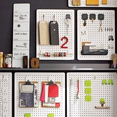 Hook it, hang it, have it all in view, all at your fingertips. Carefully crafted of heavy-duty iron, our system of white perforated boards and accessories helps you achieve meticulous order in the kitchen, office, laundry room or any other space that needs tidying. Use just one board or create a custom wall of organization with multiple boards outfitted with coordinating hooks and bins (sold separately). Each board easily mounts horizontally or vertically to ensure all of your tools and…