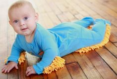 baby mop onesie. they are going to craw with or without it....2 birds?!