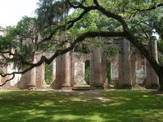 Old Sheldon Church Ruins, Beaufort South Carolina. Aaahhhh my brother was married here!!!! I miss S.C. church ruin, sheldon church