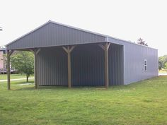 30x50x12 with 30x12 Gable Overhang - Post Frame Building www.nationalbarn.com