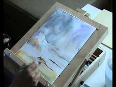 Рисуем морской пейзаж акварелью #01 - YouTube