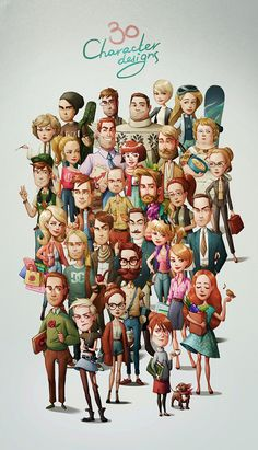 30 Character designs based on personality types on Character Design Served