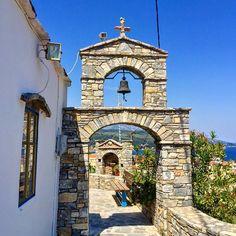"""A beautiful church in Ano Vathi, Samos, Greece.…"""