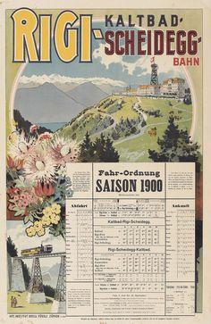 Rigi-Kaltbad-Scheidegg – 1900