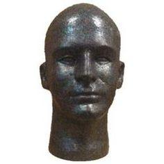 Male Head, Styrofoam...