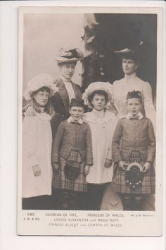 Vintage Postcard Princess Mary of Teck Queen of Great Britain & Family in Collectibles, Postcards, Royalty   eBay