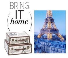 """""""Bring It Home: Paris Decorative Suitcase Trunks"""" by polyvore-editorial ❤ liked on Polyvore featuring interior, interiors, interior design, home, home decor, interior decorating, Aspire Home Accents and bringithome"""