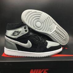 """ffd21f32c4eae6 Buy Best For Sale Air Jordan 1 Retro High """"Aleali May"""" Black Shadow  Grey-White from Reliable Best For Sale Air Jordan 1 Retro High """"Aleali May""""  Black Shadow ..."""
