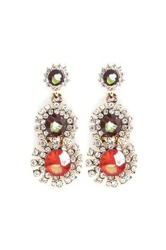 Valencia Earrings in Sunset Crystal