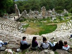 Phaselis is situated 35 km before Antalya on the recently built coastal road which shows all the beauties of Mediterranean, a forest road takes us to Phaselis, located within the village of Tekirova.