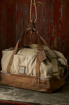 Washed Canvas Duffle Bag Photographed by William Brinson