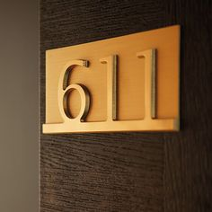 Minimal Apartment Number Signage Guest room Pinterest Signage