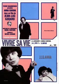 billowy:        Vivre sa vie (Jean-Luc Godard, 1962)        wonderfully beautiful, perfect film