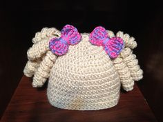 Ravelry: Curly Qs Pigtails Hat pattern by Forever Worth Crochet  $2.99
