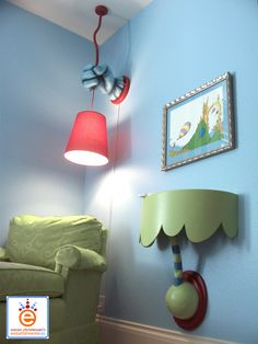 Dr. Seuss inspired handmade table and pendant light for a bedroom by EmbellishmentsKid...