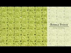 Easy instructions on how to crochet the Bobble Stitch! BLOG  ...  YARN USED IN VIDEO (Green)  ...  Have a lovely day crocheting everyone! Olivia. Crochet, Tutorial, How, Stitch, Crochê, Easy, Tuto,