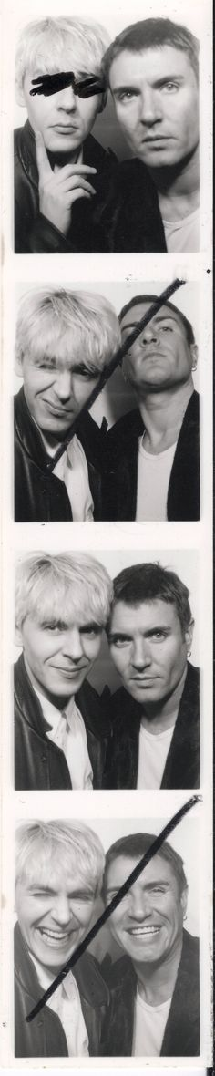 Duran Duran (the Wedding Album) - photo-booth shots, released for 20th anniversary - Simon and Nick