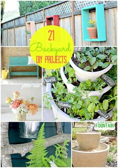 21 Outdoor #DIY Projects @tatertotsandjello.com