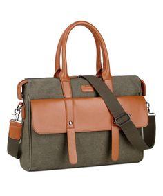 7d95208bee8b TB-03 Ladies Women Canvas Laptop Bag Briefcase Crossbody Messenger Bags Fit  14