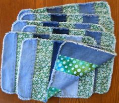 Recycled Denim Placemats by RevisionsDesigns on Etsy