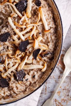 Aromatic French black winter truffles infuse this mushroom risotto with intense flavor. simply-delicious-food.com