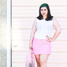 Tara Starlet Bubblegum Pink Mini Skirt - 60s style cute pastel