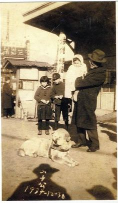 "Recently found ""last"" photo of Hachi, dated December 30, 1934."
