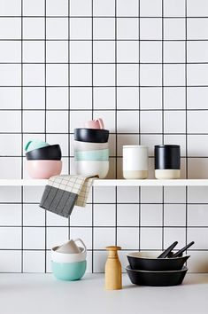 Today I'm small on words, but big on pictures! After putting together my previous post about that amazing Swedish apartment, I got to thinking about how nice square tiles are—whether aligned in a g...