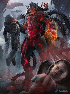 Applibot - Galaxy saga Advanced by Ditlev Monster Concept Art, Alien Concept Art, Fantasy Monster, Monster Art, Fantasy Character Design, Character Art, Dark Fantasy, Fantasy Art, Rpg Cyberpunk