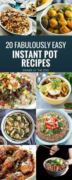 Got an Instant Pot? I\'m in love with this amazing appliance! I\'ve collected 20 of the best Instant Pot recipes, everything from hearty soups to decadent desserts!