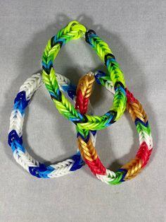 Rainbow Loom Bracelets Easy, Rainbow Loom Fishtail, Loom Band Bracelets, Rainbow Loom Tutorials, Rainbow Loom Creations, Loom Bands, Fishtail Bracelet, Lugia, Bracelet Sizes
