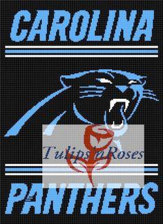 Carolina Panthers 2 Crochet Graph  7b9ad4c58