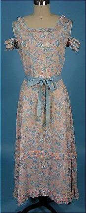 c. 1920's Floral Cotton Day Dress