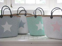 Strandtaschen - Korbtasche Stern // versch. Farben - ein Designerstück von Minikinder bei DaWanda