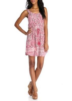 Lucky Brand  Printed Sleeveless Dress