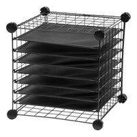 Harper Blvd Leal Black Wrapping Paper /& Craft Storage Rack