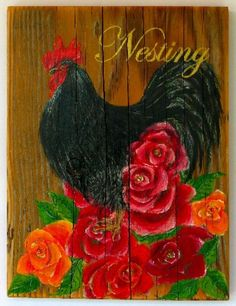 Chicken on wood
