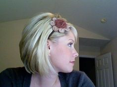 This is Kate at The Small Things Blog. I just got my haircut like hers and I love it. Go check her out she has some great hair tutorials. Love this style!