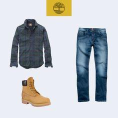 Agora que as #YellowBoots estão de volta, que tal combinar as suas com uma camisa GD Plaid Claremont e calça jeans? Perfeito para quem curte um visual mais #moderno e #descolado! #Timberland_br
