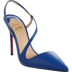 """Christian Louboutin June at Barneys.com... Had I known better, this would have been the """"something blue"""" at my wedding, instead of my miller lite can.  Love, love, love!"""