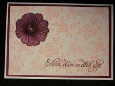Schön, dass es Dich gibt - Grußkarte von Kreatives Herzerl auf DaWanda.com