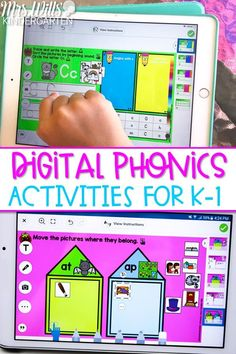 Engage your students with these digital phonics activities for kindergarten and first grade. Great for distance learning or using technology within your classroom.