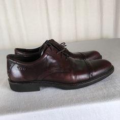 821c81a1b Ecco MENS Cap-Toe Wisky Oxford Shoes 9 US 43 EU Leather #fashion #