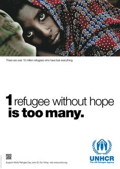 1 refugee without hope is too many.