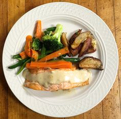 Broiled Salmon with roasted potatoes and mixed vegetables  #food #soundviewcaterers