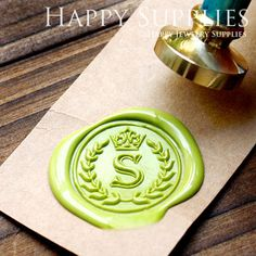 Hey, I found this really awesome Etsy listing at http://www.etsy.com/listing/156611137/1pcs-custom-initial-gold-plated-wax-seal